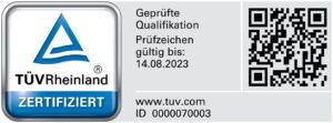 Zertifizierung TÜV Rheinland Monika Wehr